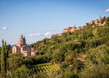 Montepulciano landscape with San Biagio church