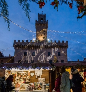 Christmas Village in Montepulciano Tuscany Italy