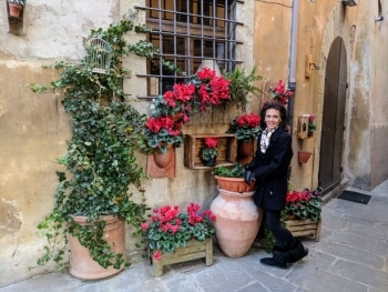 Mom in Tuscany, Italy