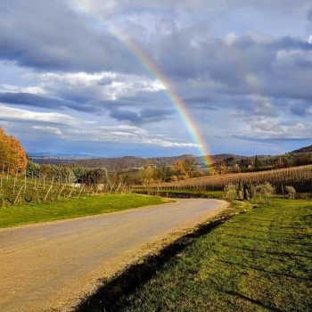 A rainbow over Fonte Martino