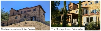 The Montepulciano Suite Before and After
