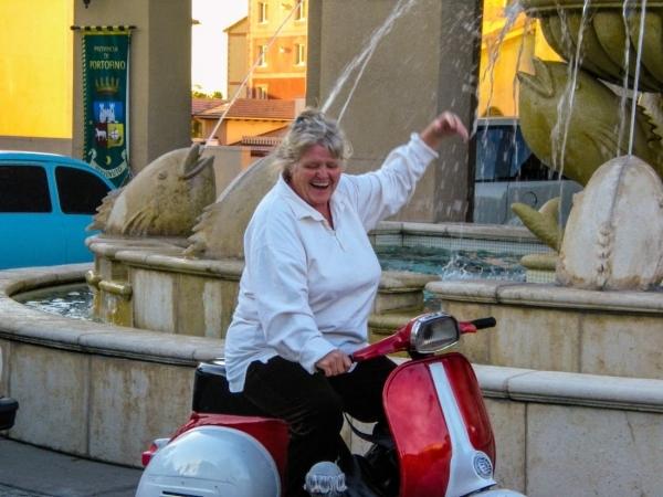 Fun experience renting a vespa in Montepulciano