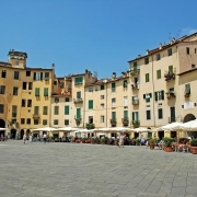 Piazza Anfiteatro Lucca Italy