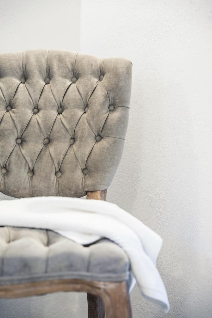 gray textured chair