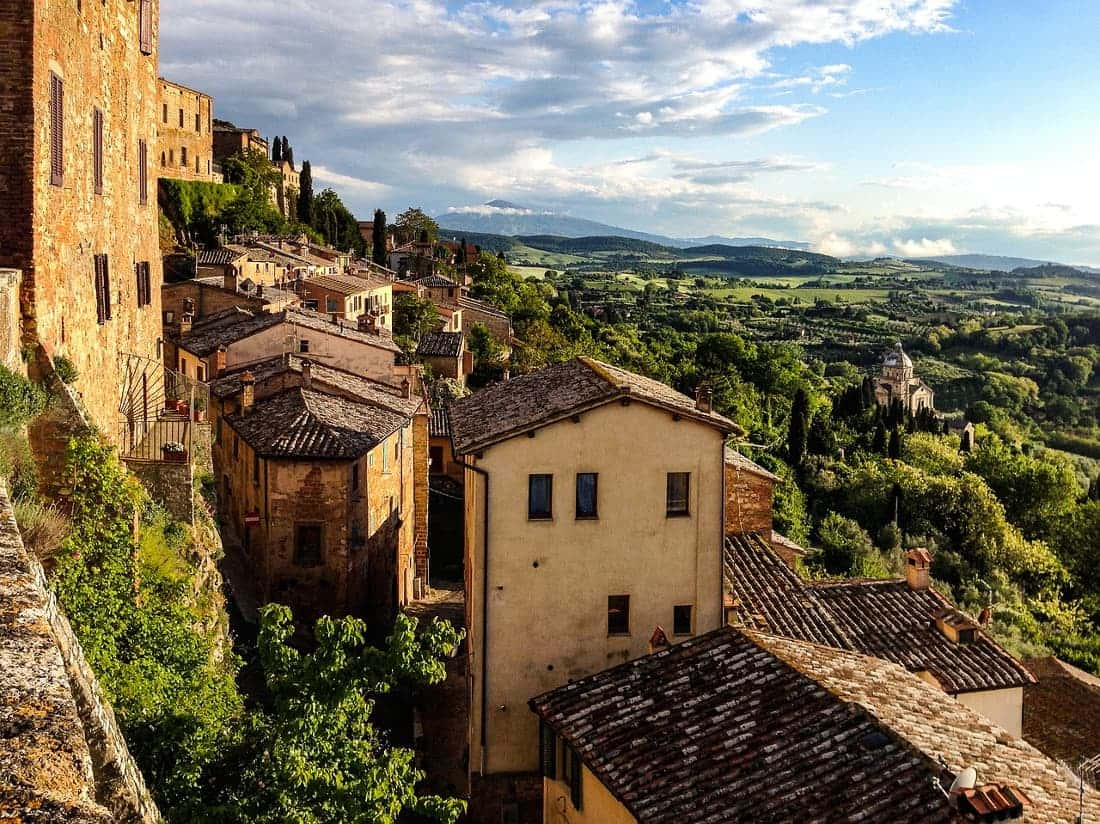 montepulciano view of san biagio and tuscany