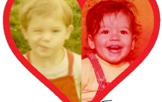 David and Toby as babies