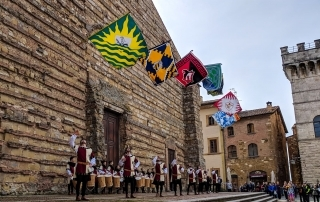 Flag Throwers at the Montepulciano Chocolate Festival