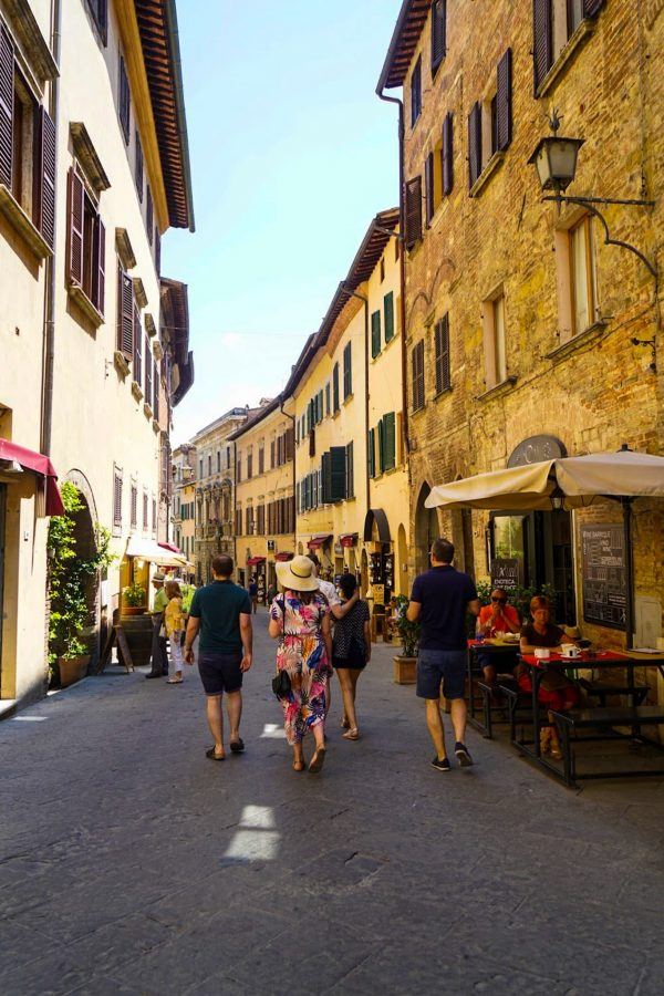 People Shopping in Montepulciano