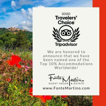 Fonte Martino Wins TripAdvisor Travelers Choice Award