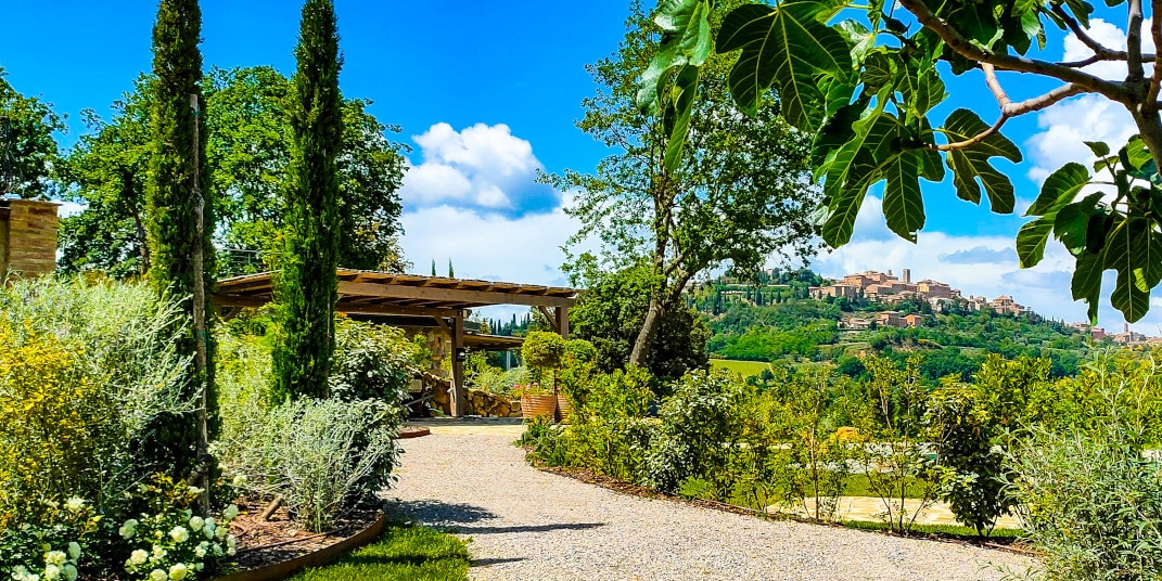 bed and breakfast in tuscany with view of montepulciano and pool