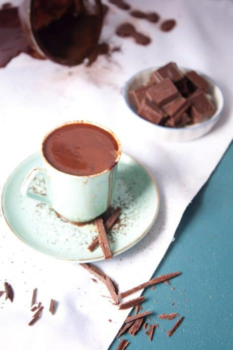 a cozy treat includes italian hot chocolate and locally made artisan cookies