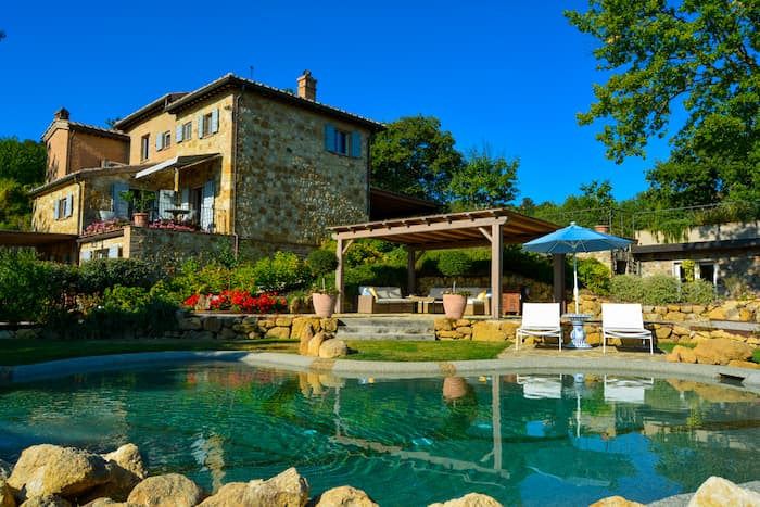 Best B&B in Montepulciano Tuscany from the pool